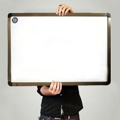 进口白板古铜色边框50x70单面高品质磁性白板