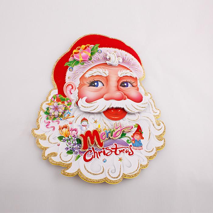 树诚 圣诞节装饰品 圣诞老人立体贴画头像