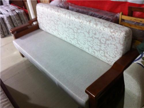 多功能沙发 木条布艺
