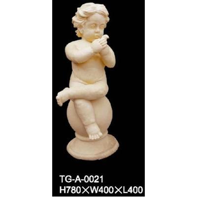 砂岩圆雕,人物立体雕塑,小天使浮雕