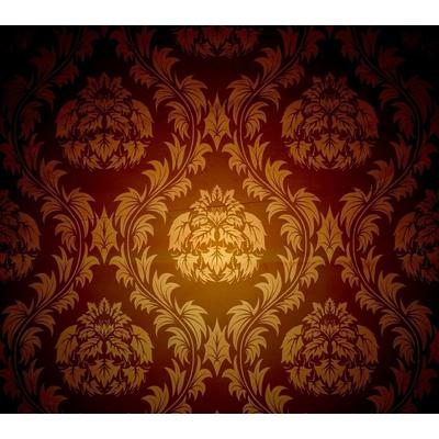 欧式棕色圆形壁纸贴图