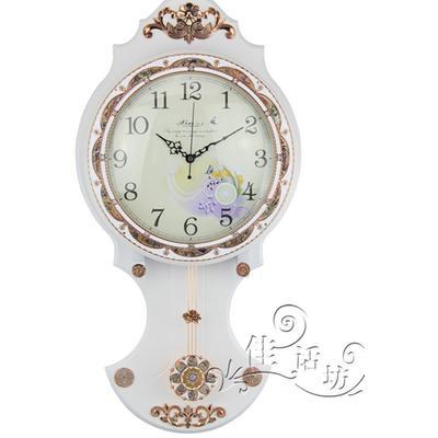 挂钟 仿古挂钟 白色古典欧式挂钟 美式复古时钟 装饰挂钟