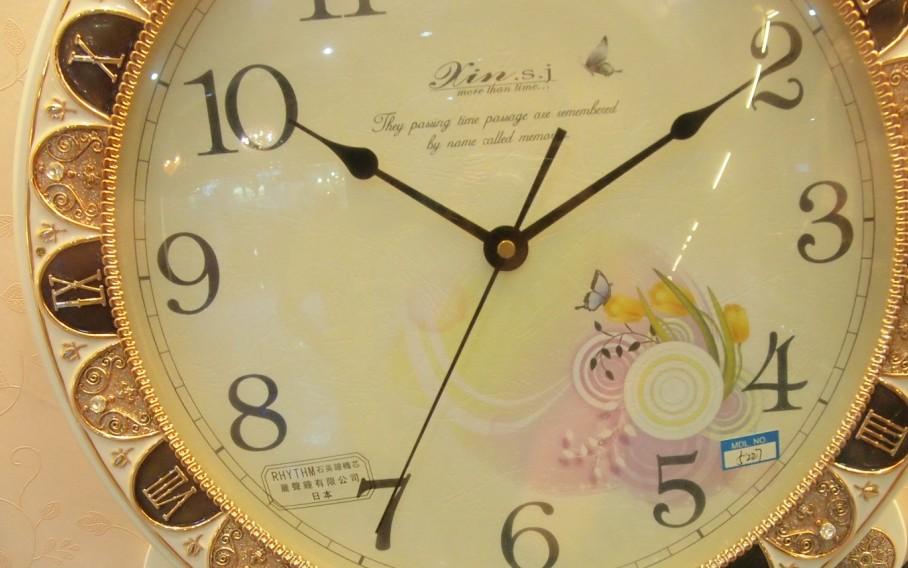 挂钟 仿古挂钟 白色古典欧式挂钟
