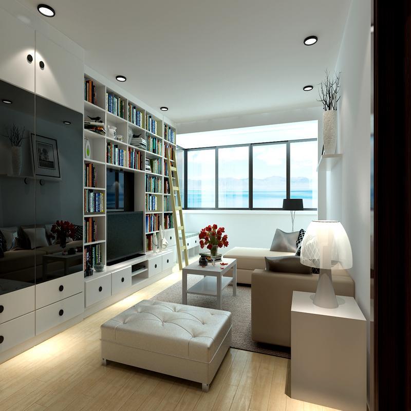 现代客厅电视背景墙方案