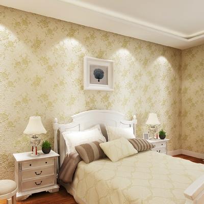 欧式田园卧室温馨客厅电视背景墙纸