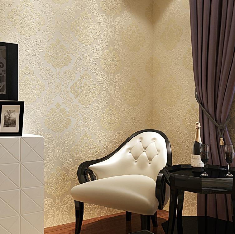 欣旺壁纸 无纺布欧式墙纸 卧室温馨客厅电视背景墙壁纸