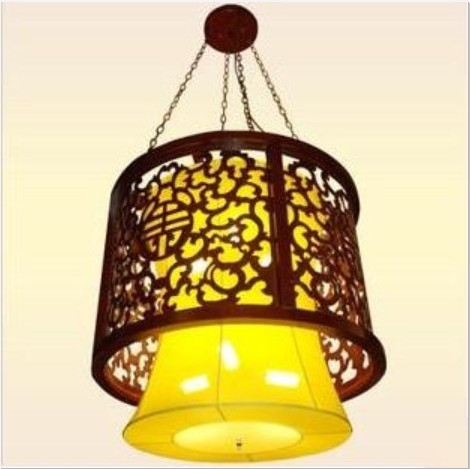 古典吊灯中式实木雕花灯具