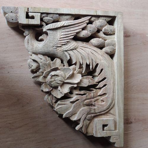 木制品 木雕 > 仿古门窗手工雕刻凤凰牛腿中式园林寺庙
