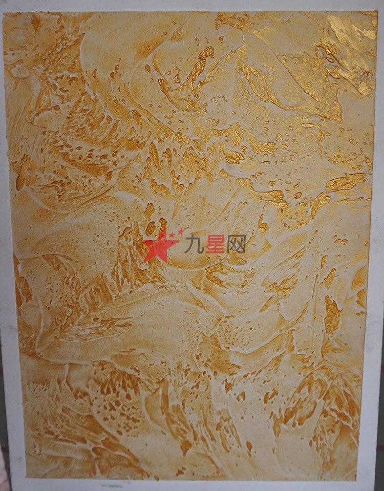 金面复古板岩液体壁纸涂料-电视背景墙艺术漆-墙艺漆【路易思】