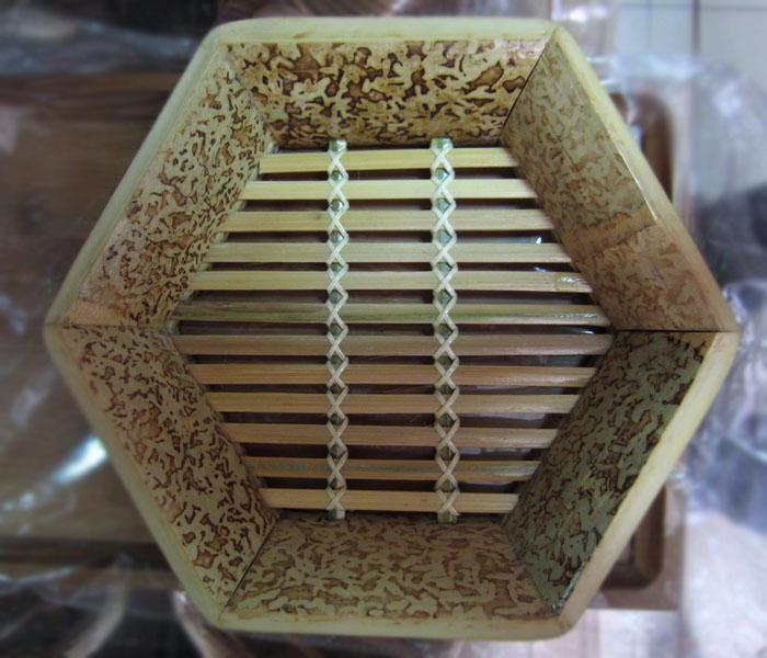 竹篮俯视图矢量图