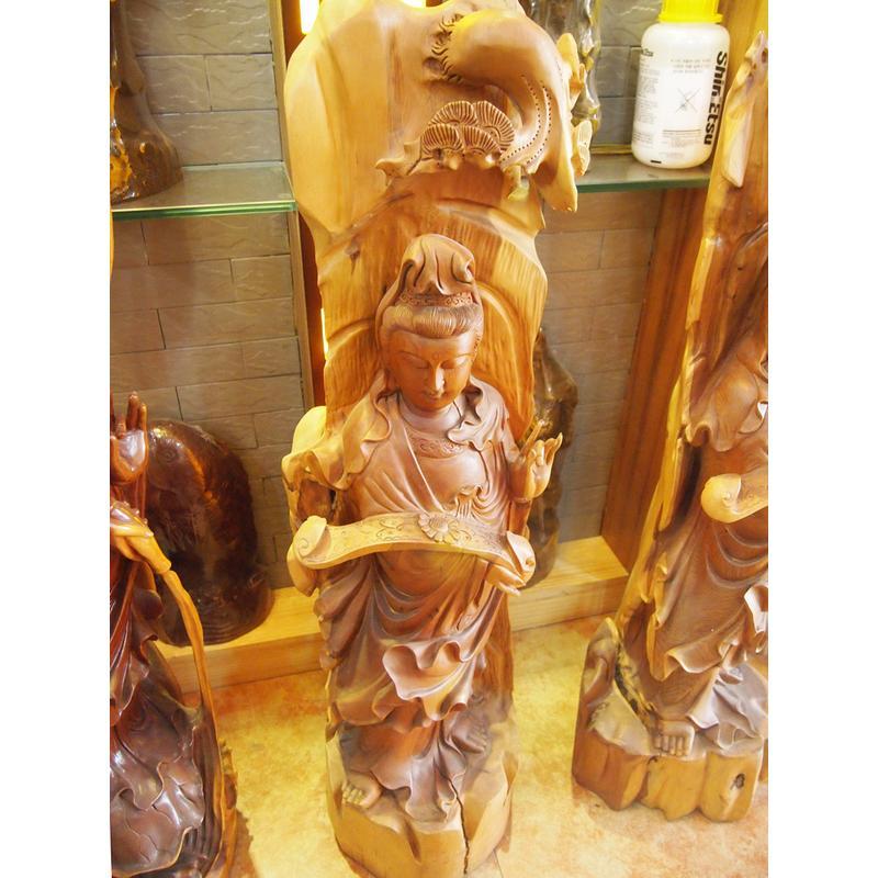 天地香茶业 根雕艺术品 观音