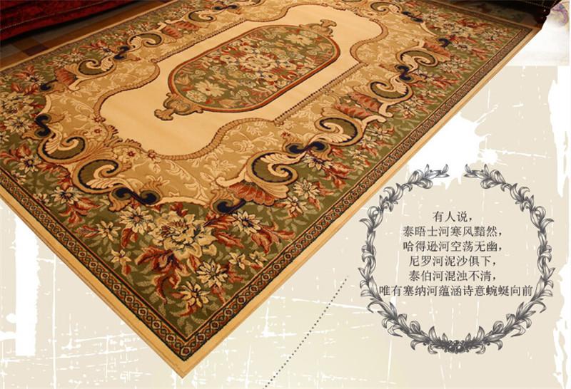 进口纯羊毛地毯 客厅加厚 欧式波斯地毯美式乡村卧室地毯