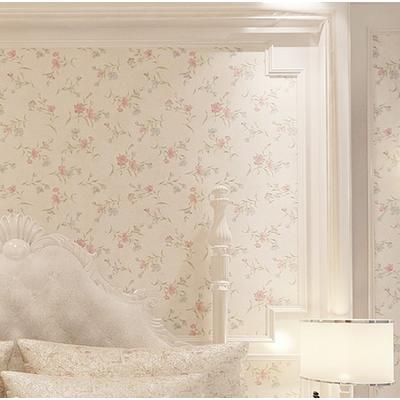 纯色壁纸 无纺布墙纸 温馨卧室 客厅电视背景墙