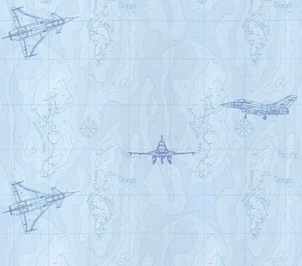 勋榜xb-013卡通飞机儿童卧室壁纸