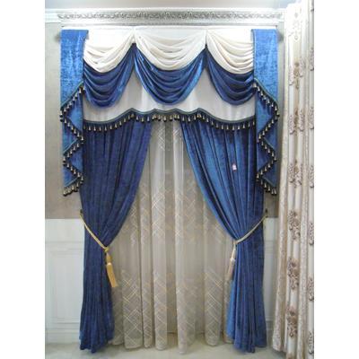 蓝色欧式风格窗帘