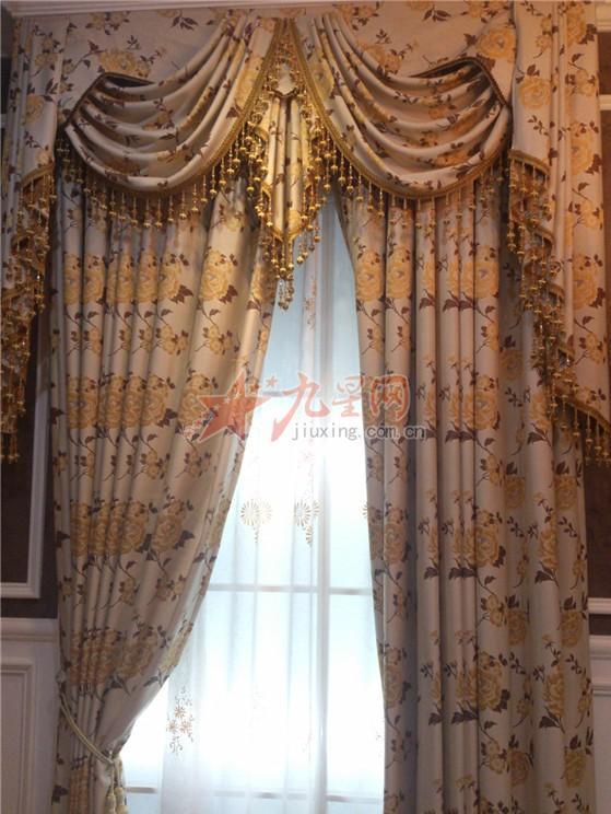 玫瑰花欧式窗帘