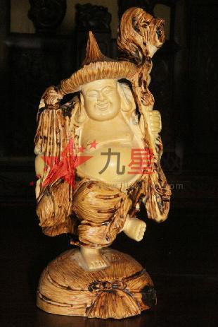 东阳木雕红木工艺品摆件 黄杨木雕佛像人物 高脚佛