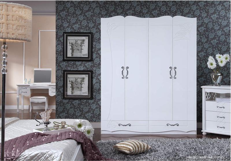 阳光明珠 欧式简约套房家具 四门二抽衣柜