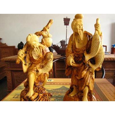 东阳木雕红木工艺品摆件 黄杨木雕佛像人物