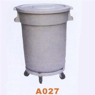 垃圾桶系列 80l平盖桶带轮