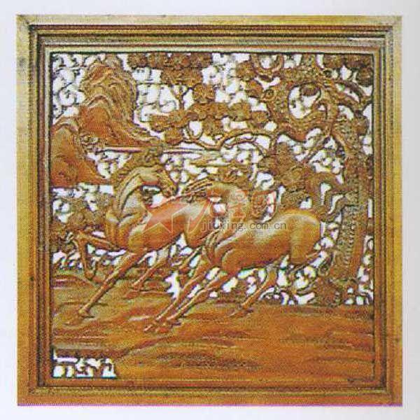 顺华木制工艺雕刻 骏马图 可根据要求订做