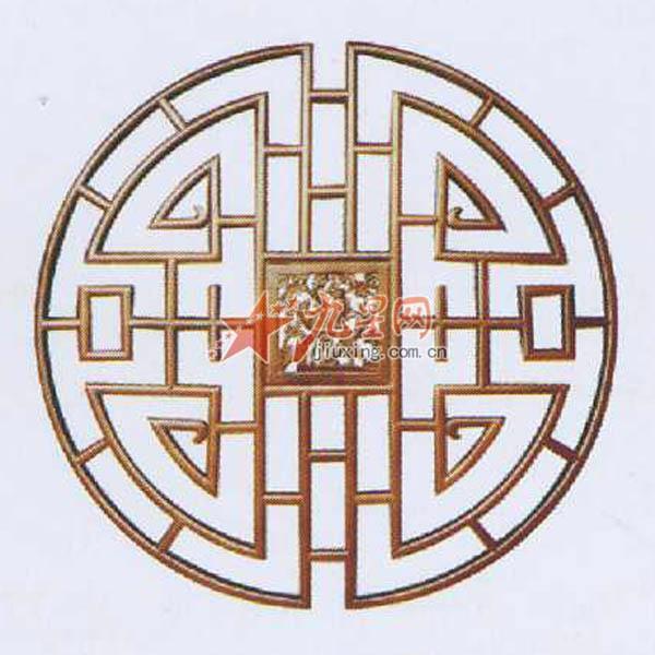 木制工艺雕刻 千祥木格窗花a-017