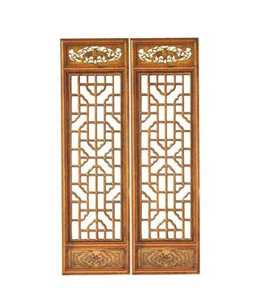 木雕仿古中式装修 玄关隔断屏风 花格 门窗 背景墙 实木镂空