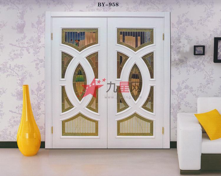 【沪浔】欧式风格高档工艺玻璃双开门系列by958-959