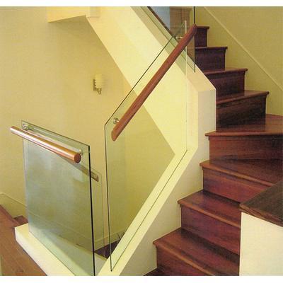 木玻璃阁楼复式别墅室内楼梯扶手立柱踏板欧式rj-054