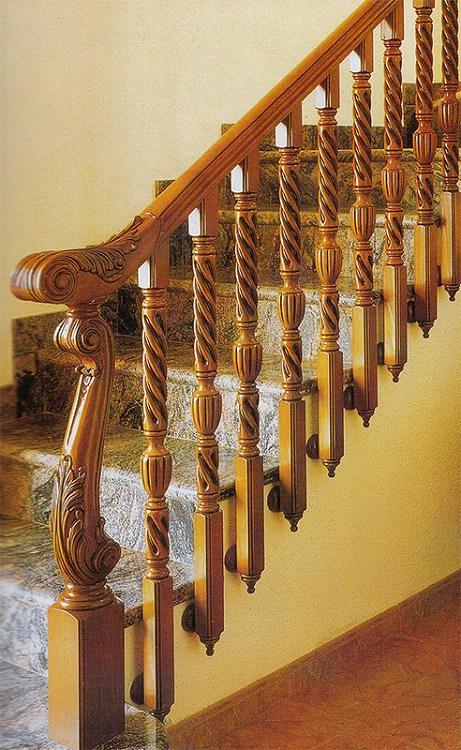 木玻璃阁楼复式别墅室内楼梯扶手立柱踏板欧式rj-016