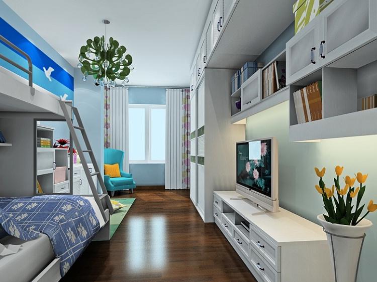 定制衣柜组合电视柜 韩式田园卧房