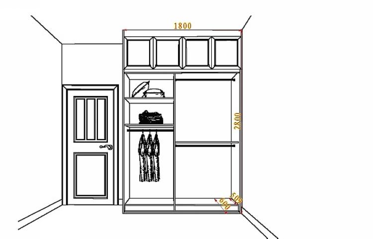 整体移门推拉门衣柜 到顶设计 实木风衣柜【鼎晶】