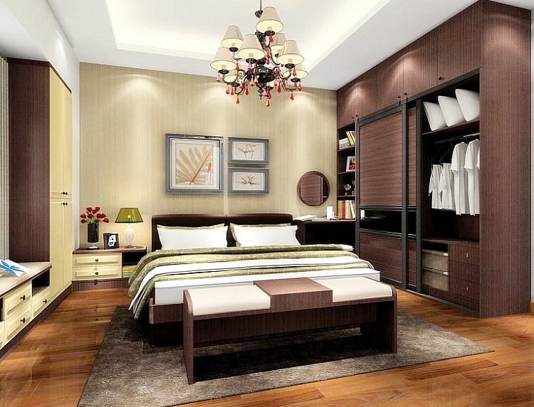 定制整体卧室家具 衣柜组合梳妆台设计【鼎晶】图片