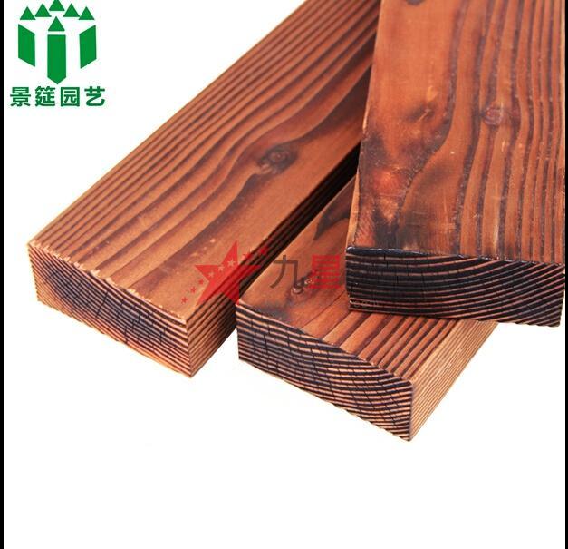 花旗松碳化木 板材防腐木地板 景观实木建材 护墙板木材
