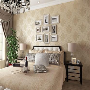 高档科翔壁纸卧室 客厅电视墙壁纸欧式环保无纺布背景