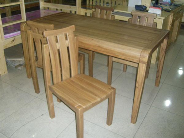 咏仁家具 老榆木餐桌椅 01