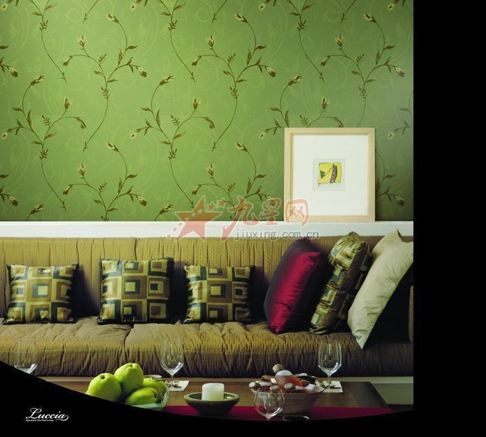 绿色墙壁纸装修效果图