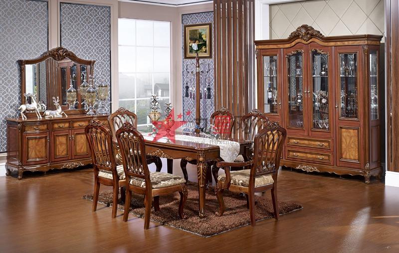 典派欧式家具 餐桌椅 餐边柜图片