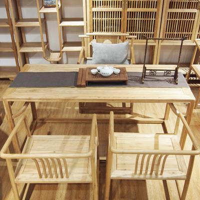 柳泉红木家具 老榆木茶桌