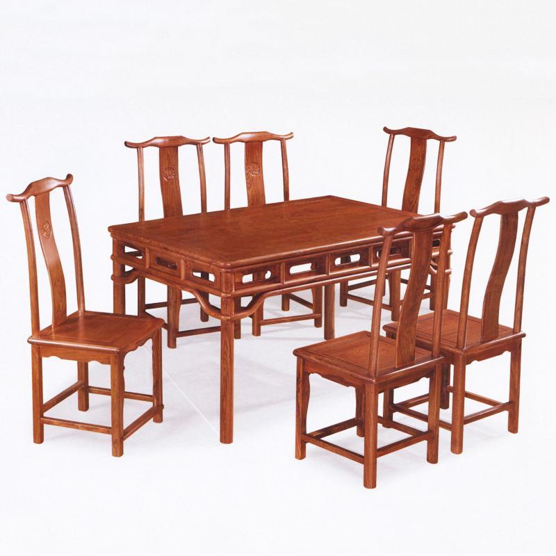 柳泉红木家具 刺猬紫檀 明式餐桌