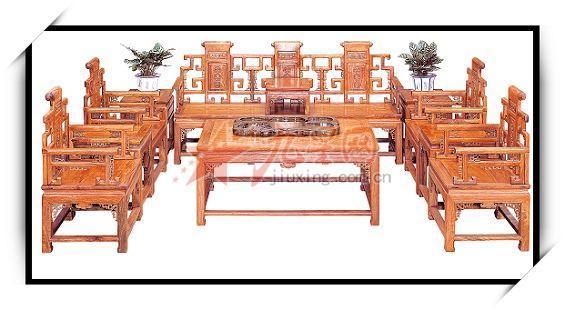 柳泉古艺 聚宝阁红木 勾仔沙发,茶几