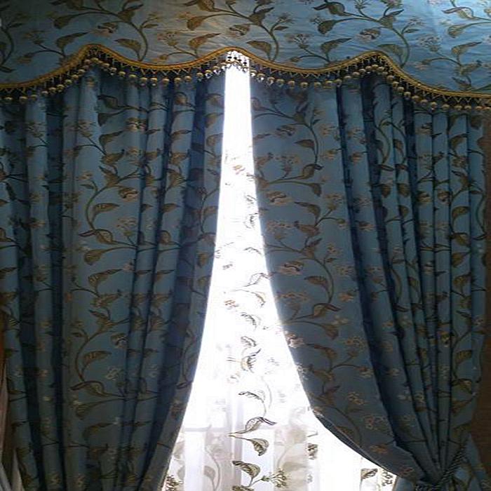 欧帝格 卧室客厅 暗色系列 英式风格窗帘图片