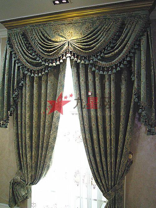 欧式窗幔效果图