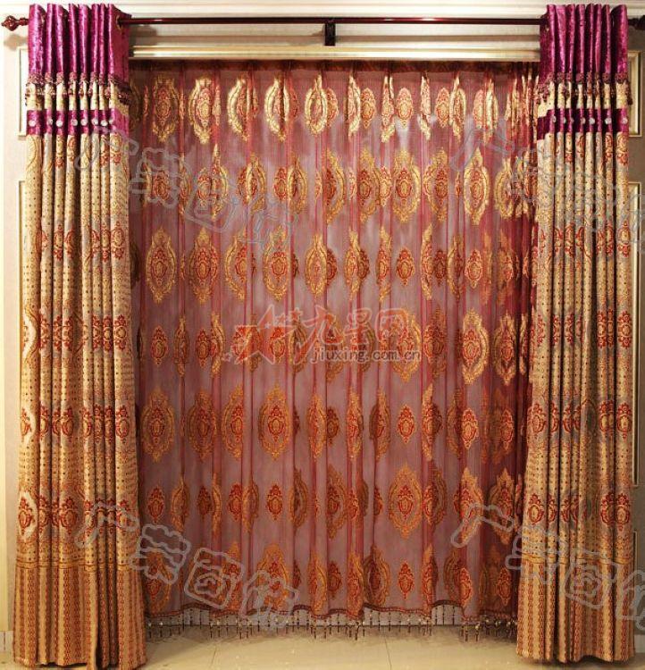 广益欧式富贵金色客厅卧室窗帘gy-2012