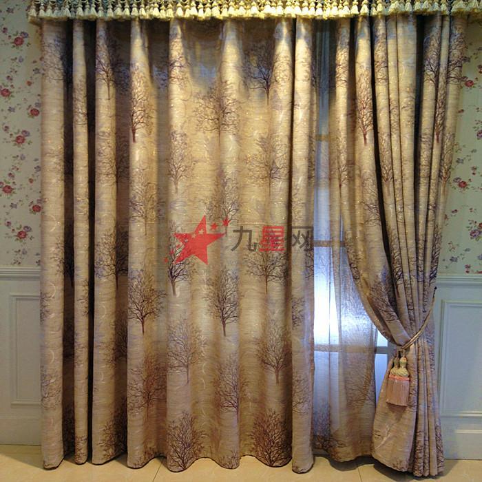 欧式棕色窗帘材质贴图