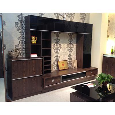 简尚家具 厅柜 深褐色木纹
