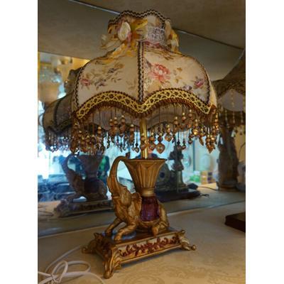 大象台灯 树脂 布艺 欧式风台灯