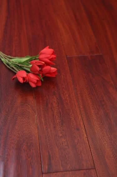 欧象地板 实木仿古圆盘豆仿古手抓-玫瑰之约