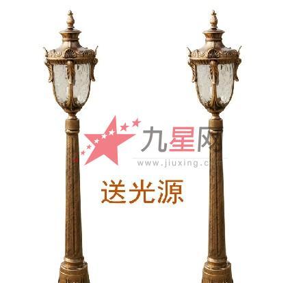 欧式庭院灯户外灯路灯双头 室外灯公园灯 街道灯园林别墅灯防水