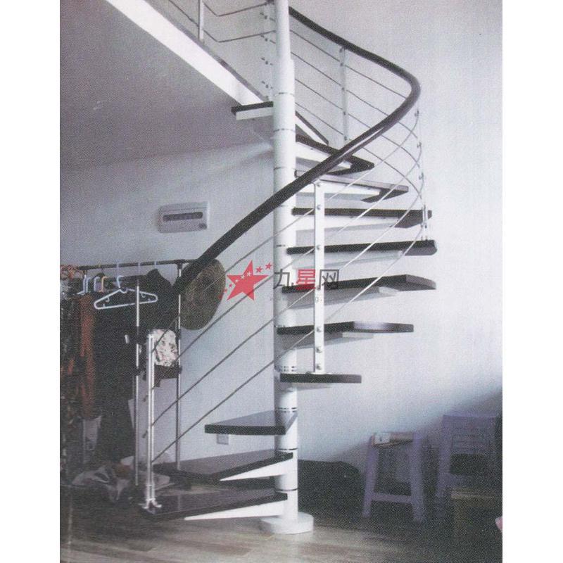 中柱旋转接亮环楼梯   型号:hw-a2   品牌:桦威 龙骨:圆管直径114